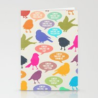 Birdsong Gosh Quotes By … Stationery Cards