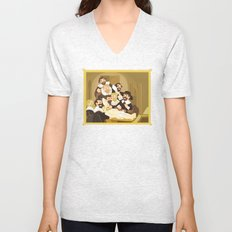 The Anatomy Lesson by Rembrandt Unisex V-Neck