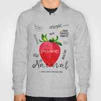 Watercolor Strawberry Hoody
