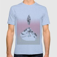 Domestic Landscape Mens Fitted Tee Athletic Blue SMALL