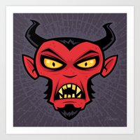 Mad Devil Art Print