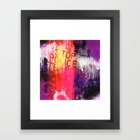 The State Of Being Apart Framed Art Print