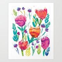 Natasha Flower Art Print