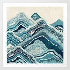 Blue Hike  Art Print