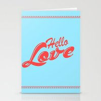 Hello, love | Typography Stationery Cards