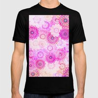 Mandala Flowers In A Col… Mens Fitted Tee Black SMALL