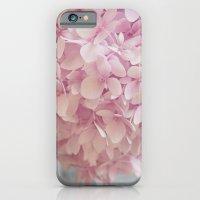 Delicate, pastel pink hydrangea flower iPhone 6 Slim Case