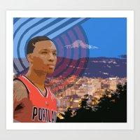 Portland TrailBlazers Da… Art Print