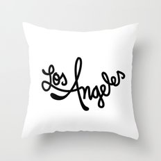Los Angeles, Hand-Lettered Throw Pillow