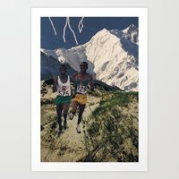 Running Like Lightning Art Print