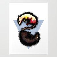 Rats. Art Print