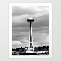 Seattle in Black and White Art Print
