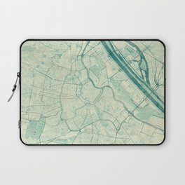 Laptop Sleeve - Vienna Map Blue Vintage - City Art Posters