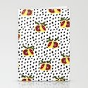 Blood Orange and Dots Stationery Cards