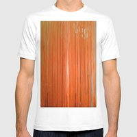ORANGE STRINGS Mens Fitted Tee White SMALL