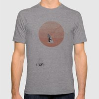 FROM EARTH Mens Fitted Tee Athletic Grey SMALL