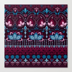 Burgundy Boho Pattern Canvas Print