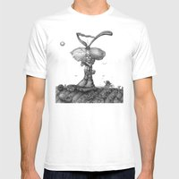 Ed Jack Rabbit Mens Fitted Tee White SMALL
