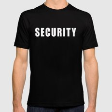 SECURITY TEE SHIRT SMALL Mens Fitted Tee Black