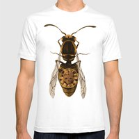 Wasp Mens Fitted Tee White SMALL