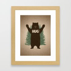 Bear Hug Framed Art Print