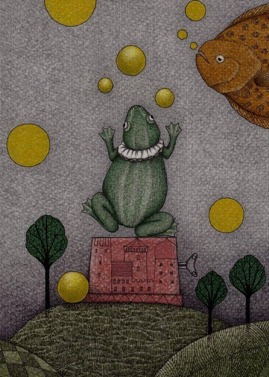 Frogking (2) Art Print
