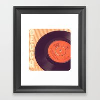 Vintage Record  Framed Art Print