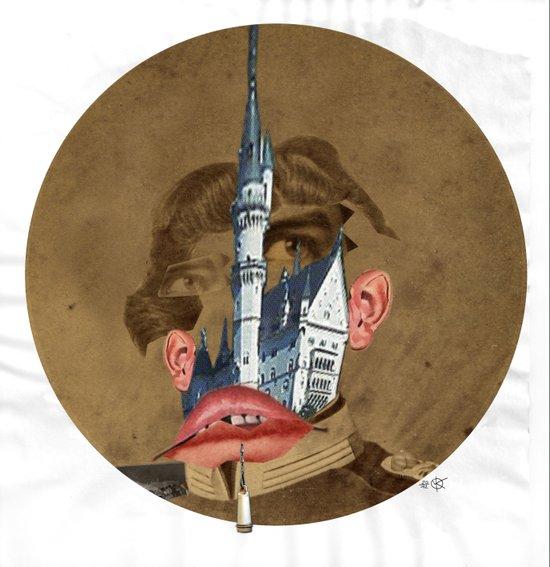 King Lui Collage Art Print
