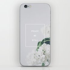 Peace, Be Still iPhone & iPod Skin