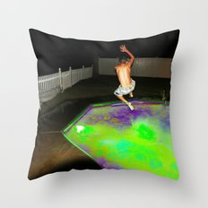 Jump for Joy. Land for Safety. Throw Pillow