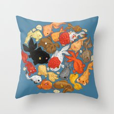For The Love Of Goldfish Throw Pillow
