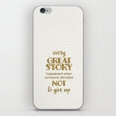 Every Great Story- On Wh… iPhone & iPod Skin