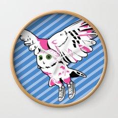 Owl w/ sneakers Wall Clock