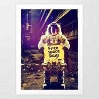 Space hugs Art Print