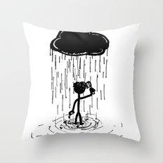 Turn that cloud, upside down! Throw Pillow