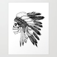 native Art Prints featuring Native American by Motohiro NEZU