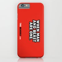 iPhone & iPod Case featuring WHEN MAN AND BEST ARE ONE. by The Beardly