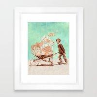 Cloud Carrier Framed Art Print