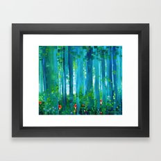 Fox-Forest Framed Art Print