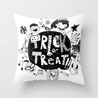 For Halloween - Trick Or… Throw Pillow