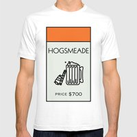 Hogsmeade Monopoly Location Mens Fitted Tee White SMALL