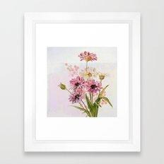 bouquet en rose Framed Art Print