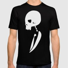 Inverted PARTY SKULL SMALL Black Mens Fitted Tee