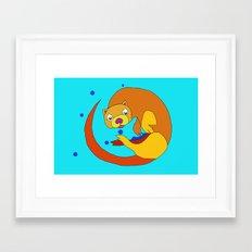 Fred The Otter Framed Art Print