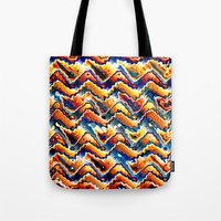 Vibrant Geometric Motif Tote Bag