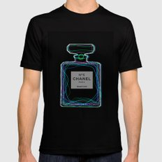 no5 Black SMALL Mens Fitted Tee