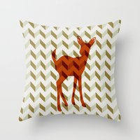 Woodland Fawn  Throw Pillow