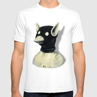Bandit Hat Mens Fitted Tee White SMALL