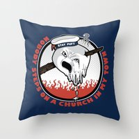 Mother Pus Bucket! Throw Pillow