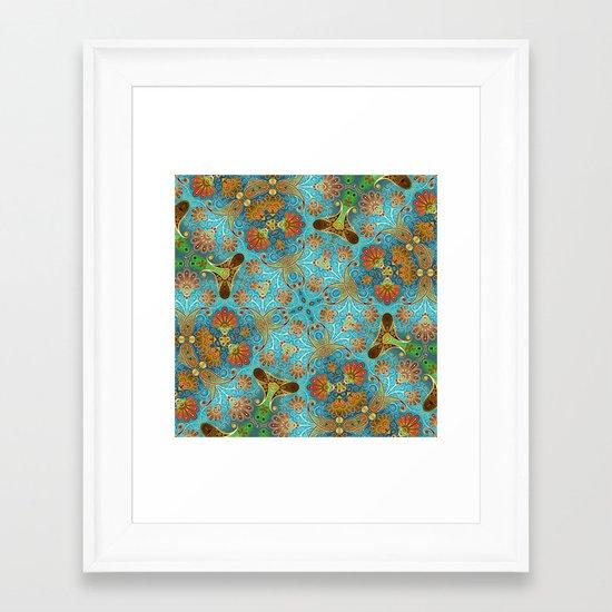 Indian Floral Framed Art Print